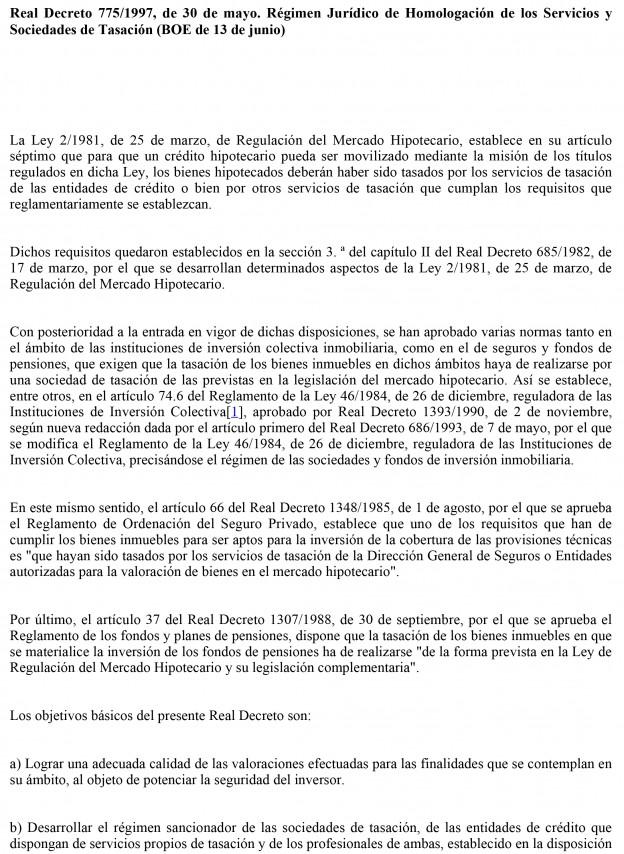 Real Decreto 775/1997, de 30 de mayo