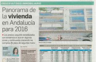 Panorama de la vivienda en Andalucía para 2016
