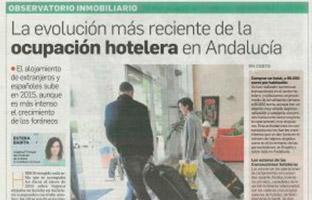 Evolución reciente de la ocupación hotelera en Andalucía