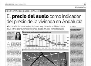 El precio del suelo como indicador del precio de la vivienda en Andalucía