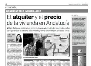 El alquiler y el precio de la vivienda en Andalucía
