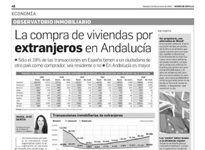 La compra de viviendas por extranjeros en Andalucía