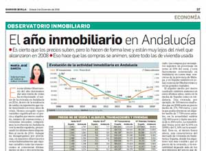 El año inmobiliario en Andalucía