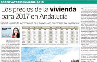 Los precios de la vivienda para 2017 en Andalucía