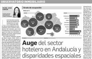 Auge del sector hotelero en Andalucía y disparidades espaciales