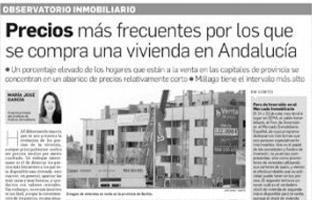Precios más frecuentes por los que se compra una vivienda en Andalucía