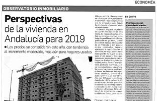 Observatorio Inmobiliario – Perspectivas de la vivienda en Andalucía para 2019