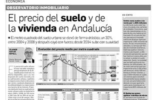 Observatorio Inmobiliario – Precio de suelo y de la vivienda en Andalucía