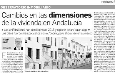 Observatorio Inmobiliario – Cambios en las dimensiones de la vivienda en Andalucía