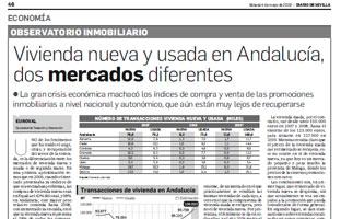 Observatorio Inmobiliario – Vivienda nueva y usada en Andalucía