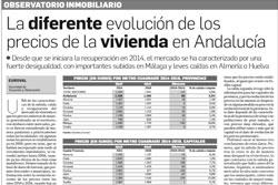 Observatorio Inmobiliario – La diferente evolución de precios de vivienda en Andalucía