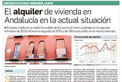 El alquiler de la vivienda en Andalucía en la situación actual
