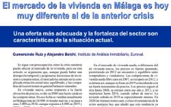 El mercado de la vivienda en Málaga es hoy muy diferente al de la anterior crisis