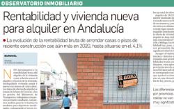 Observatorio Inmobiliario – Rentabilidad y vivienda nueva para alquiler en Andalucía