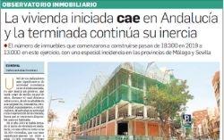 Observatorio Inmobiliario – La vivienda iniciada cae en Andalucía y la terminada continúa su inercia