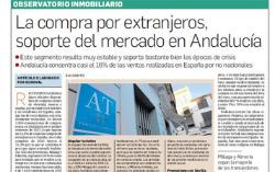 Observatorio Inmobiliario – La compra por extranjeros sigue siendo un soporte del mercado de vivienda en Andalucía