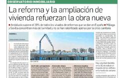 Observatorio Inmobiliario – La reforma y ampliación de vivienda refuerzan la obra nueva en Andalucía